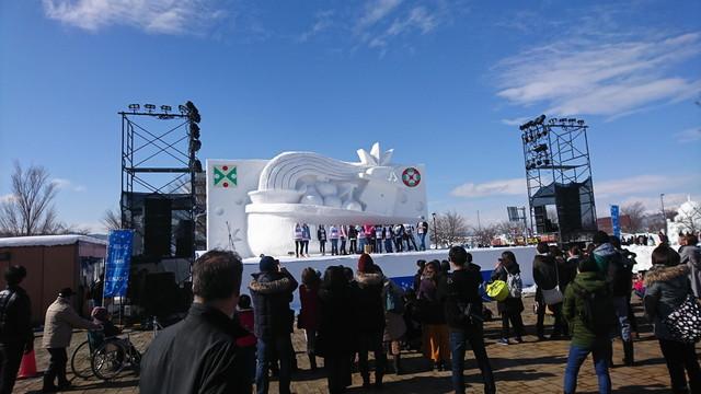 やまがた雪フェスティバルのメインステージ2