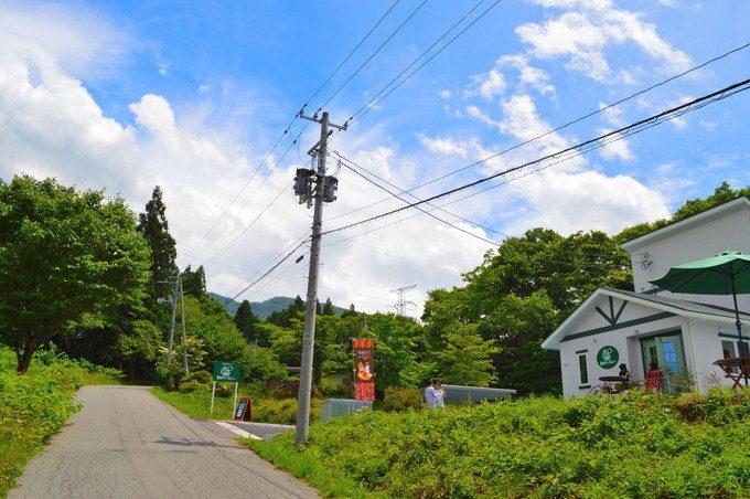 蔵王雲のベーカーリ-外観-道路から店舗
