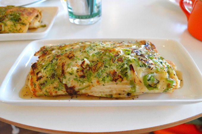 どんどん焼きカフェ-カシワヤ-注文2-ネギチーズどん
