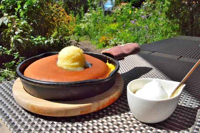 ミツバチガーデンカフェ-注文1-パンケーキ1