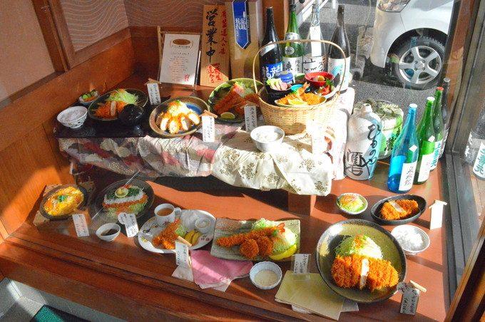 とんかつ竹亭-食品サンプル-外観