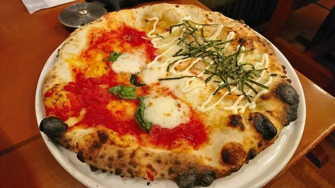 菜園ブッフェピソリーノ-注文-マルゲリータと照焼チキン