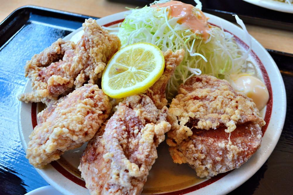 仁亭-食レポ-鶏唐揚げ定食3