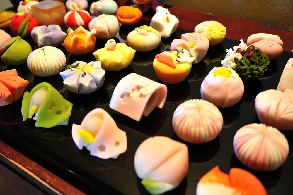 あずき宿-和菓子の展示7