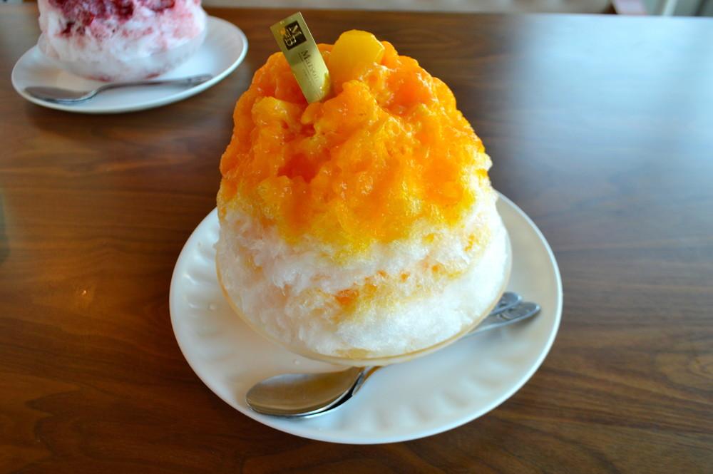 メゾンドボア-かき氷-マンゴーミルク1