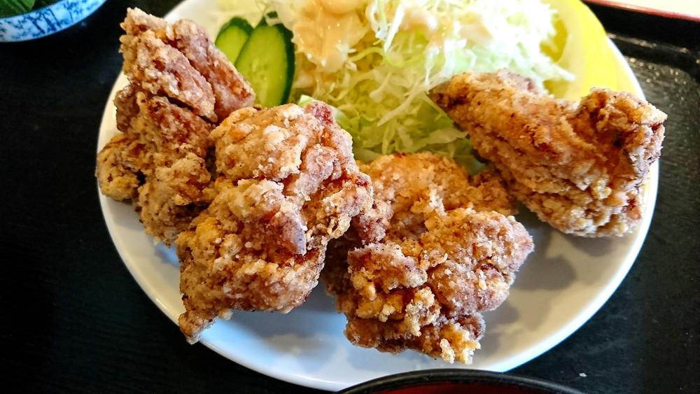 あさひ食堂-食レポ-鳥唐揚げ定食2