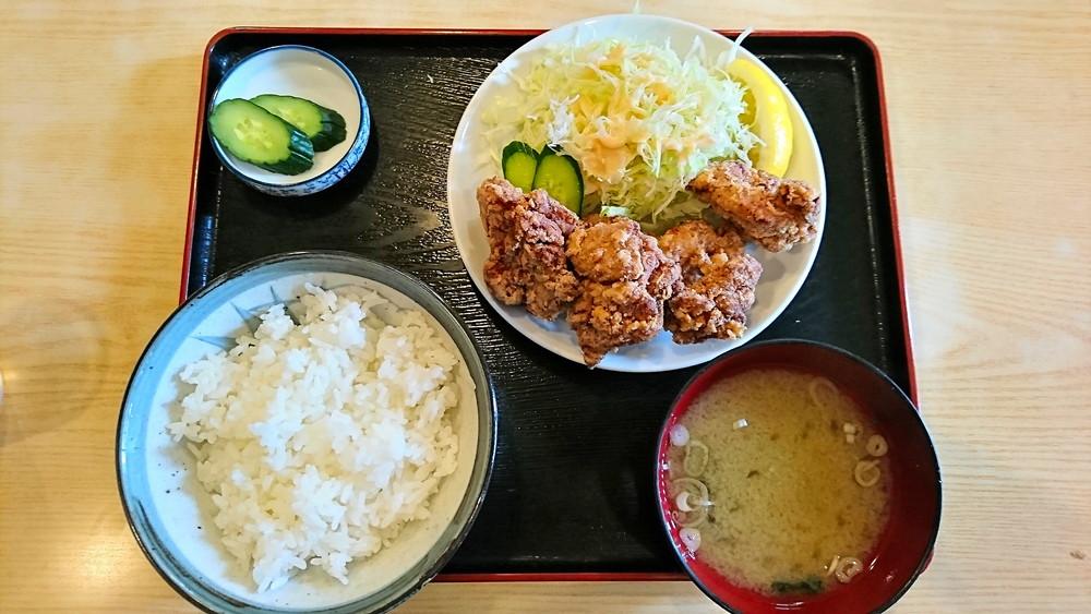 あさひ食堂-食レポ-鳥唐揚げ定食1