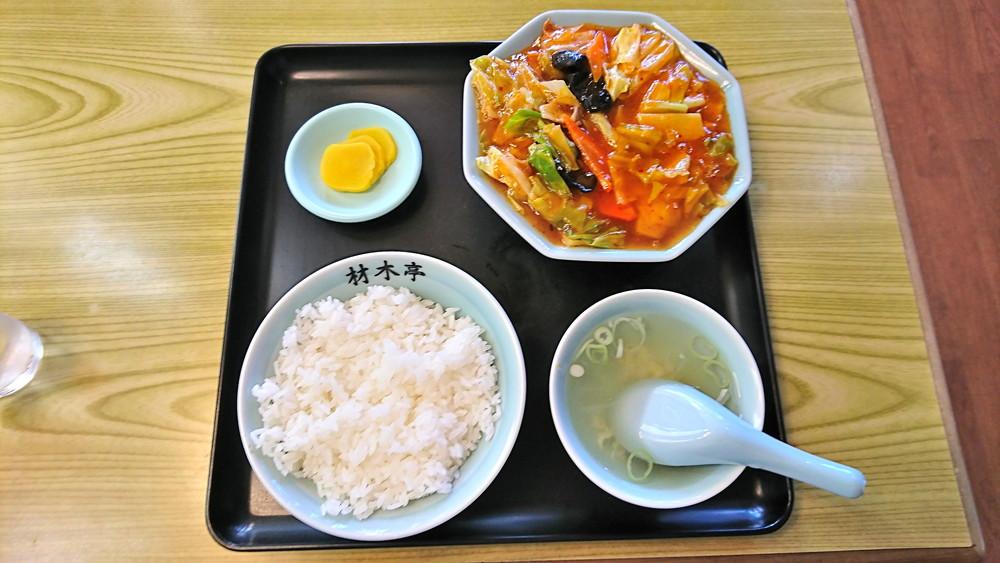 材木亭-食レポ-材木亭定食1
